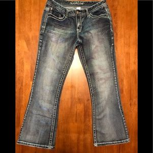 EUC Maurices thick stitch bootcut jeans size 9/10